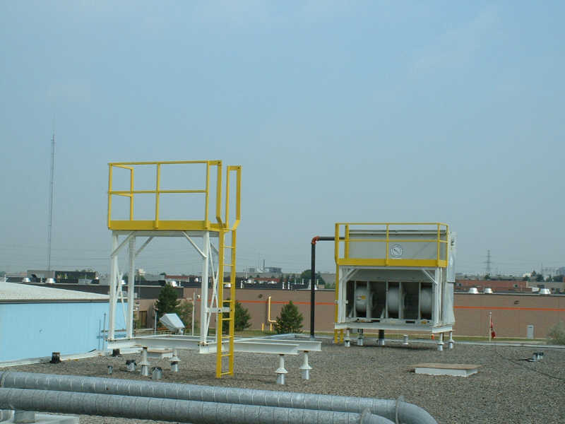 Rigger Custom Fabrication Access platforms for cooling towers